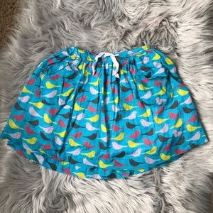 Mini Boden Bird Skirt 3-4Y with Pockets
